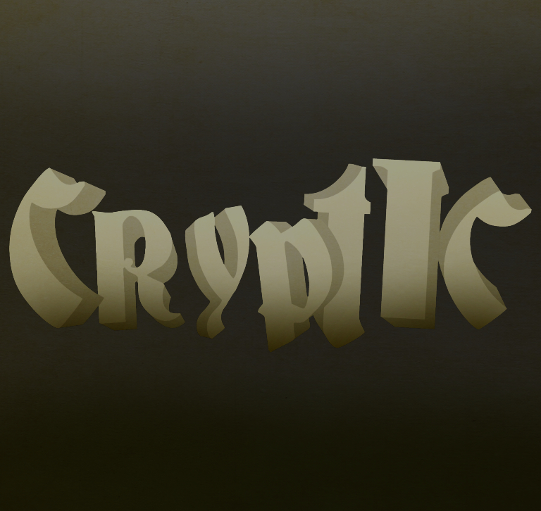 Graphic Design Week One Cryptic